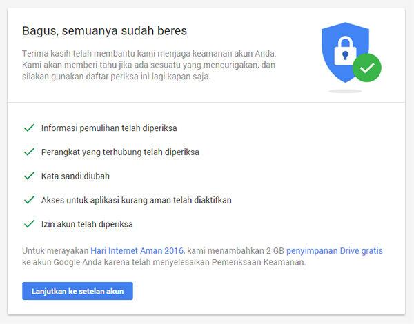 Pemeriksaan Keamanan Google