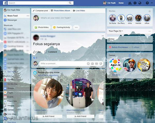 Cara Mengubah Tema Facebook 5