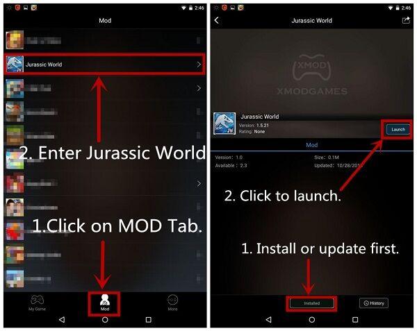 Mod Jurassic World Xmodgames 1