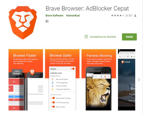 Brave Browser Aplikasi Di Google Play C8863