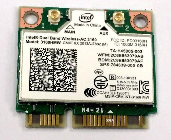 Intel 3160 Wifi Card 2f1a0