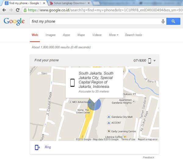 Cara Cepat Menemukan Android Yang Hilang Dengan Google Chrome 1