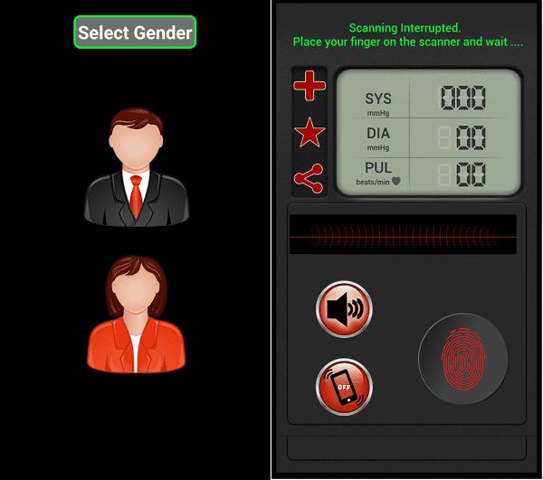 Fingerprint Blood Pressure Simulator 1