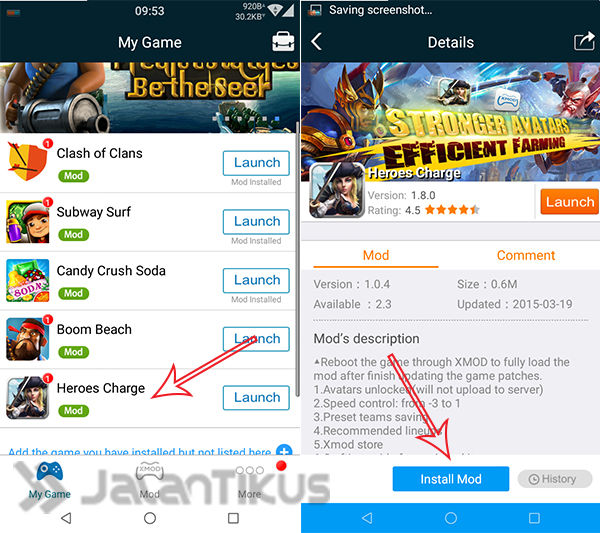 Cheat Heroes Charge Di Android Dengan Xmodgames 1