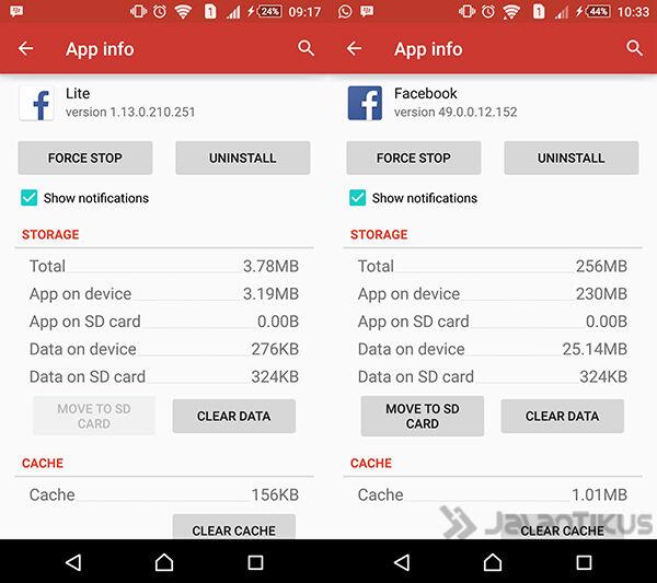 Hemat Kuota Ram Dan Storage Facebook 4