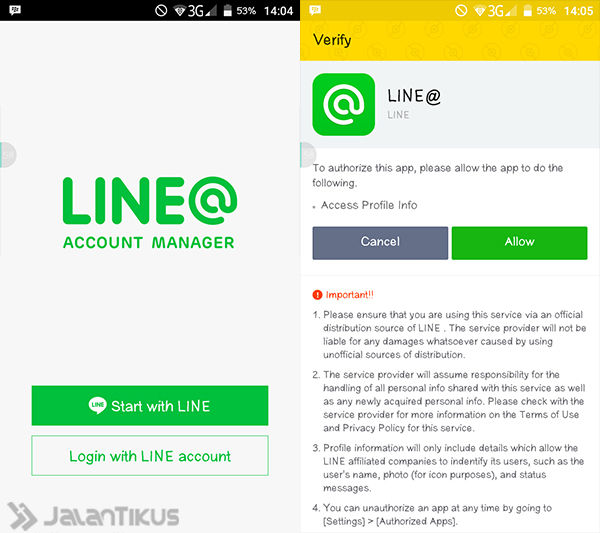 Cara Membuat Akun Official Line 2