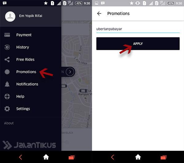 Cara Naik Uber Gratis 4