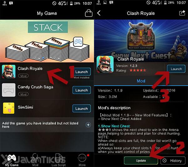 Mod Clash Royale Mengetahui Chest Yang Didapat Selanjutnya 1