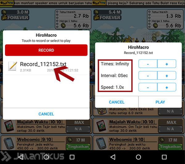 Cheat Game Tahu Bulat Android 6