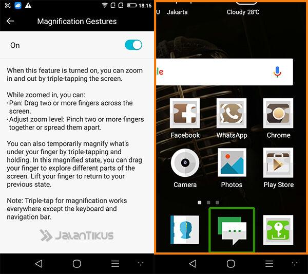 Smartphone Android Pengguna Gangguan Penglihatan 3