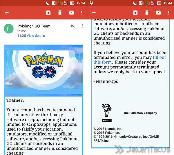 Akun Pokemon Gon Dibanned