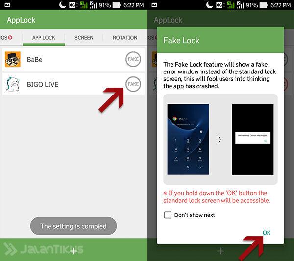 Cara Kunci Aplikasi Android 4