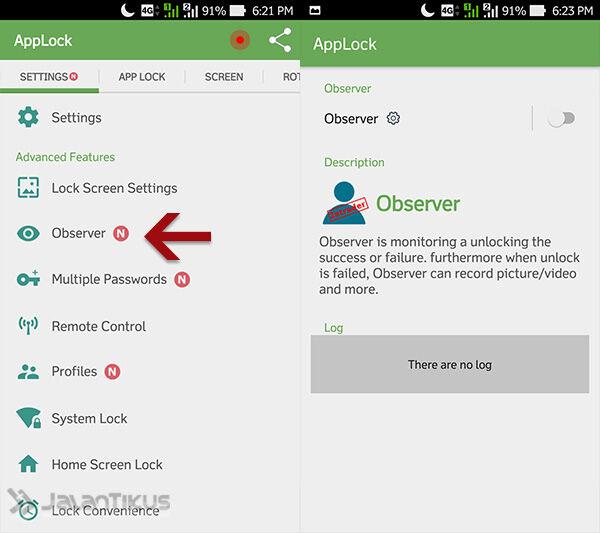 Cara Kunci Aplikasi Android 6