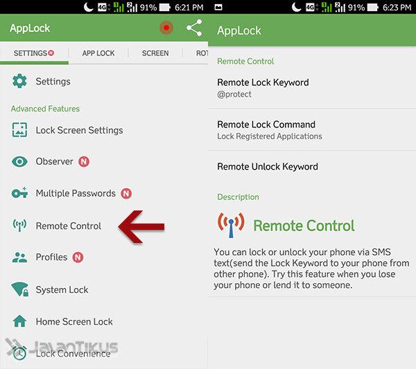 Cara Kunci Aplikasi Android 8