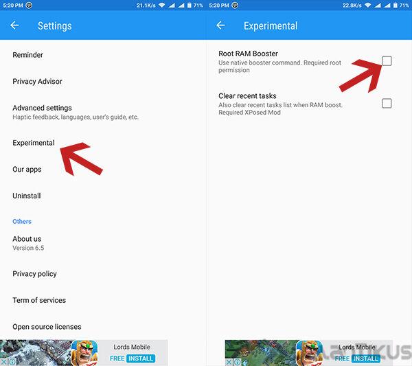 Cara Menambah Ram Android 4