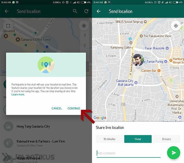 Cara Melacak Lokasi Orang Lain Lewat Whatsapp 2