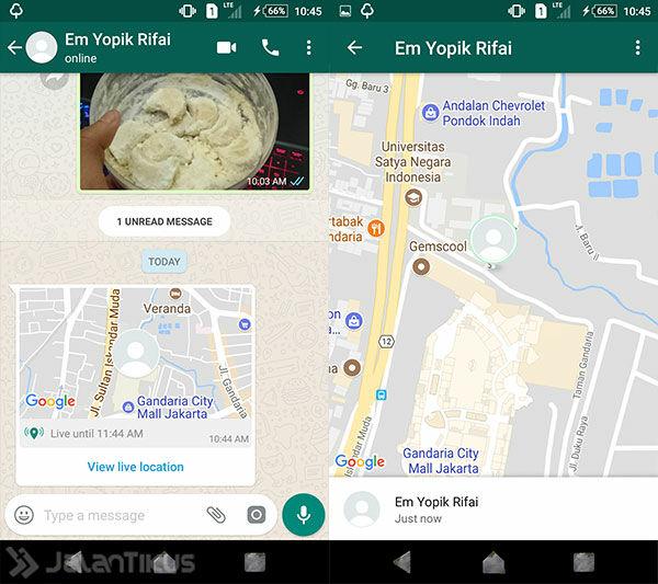 Cara Melacak Lokasi Orang Lain Lewat Whatsapp 4