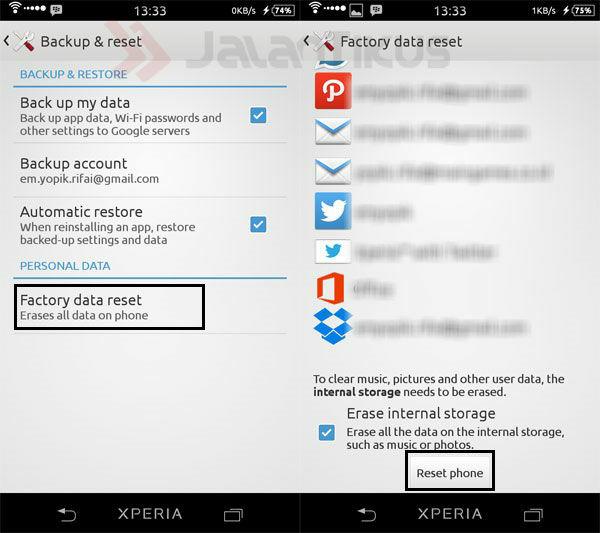 Cara Buat Android Seperti Baru Dengan Factory Reset 2