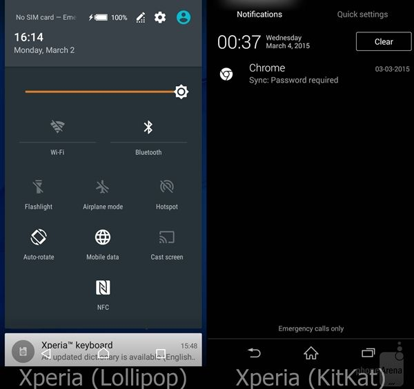 Perbandingan Android Lollipop Vs Kitkat Pada Sony Xperia 2