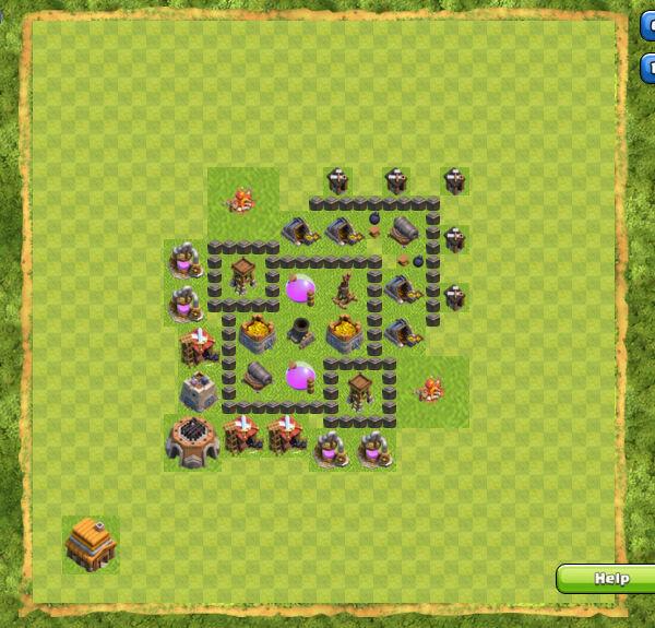 Base Farming Coc Th 4 10