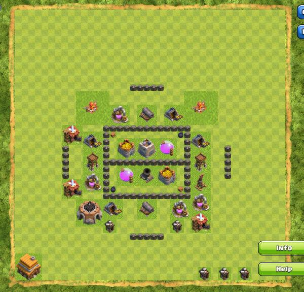 Base Farming Coc Th 4 13
