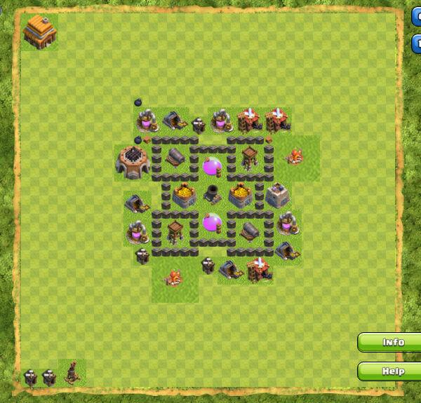 Base Farming Coc Th 4 15