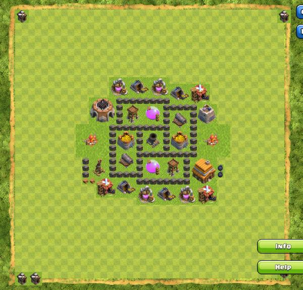 Base Farming Coc Th 4 16