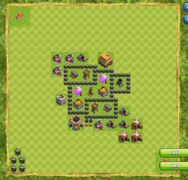 Base Farming Coc Th 4 17