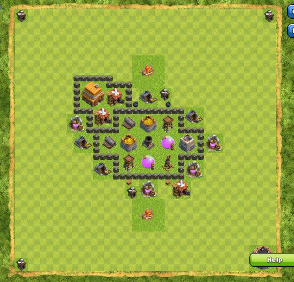 Base Farming Coc Th 4 18