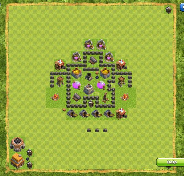 Base Farming Coc Th 4 19