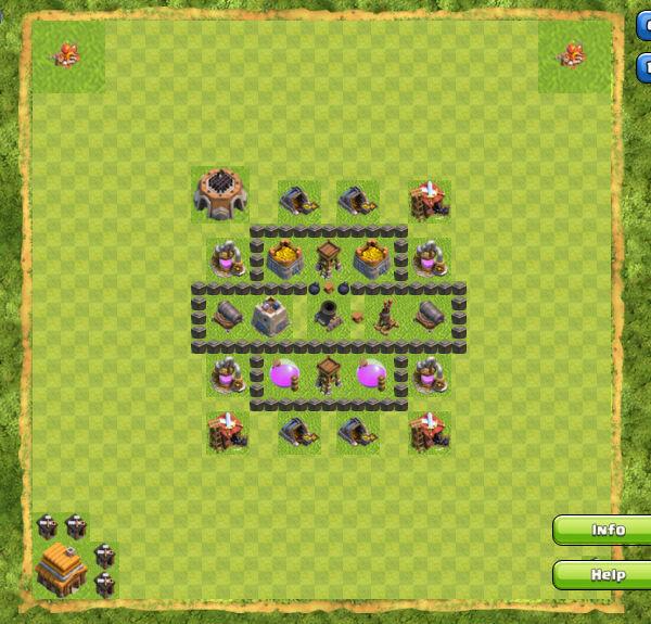 Base Farming Coc Th 4 2