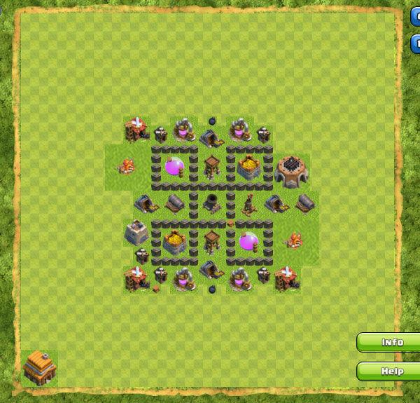 Base Farming Coc Th 4 20