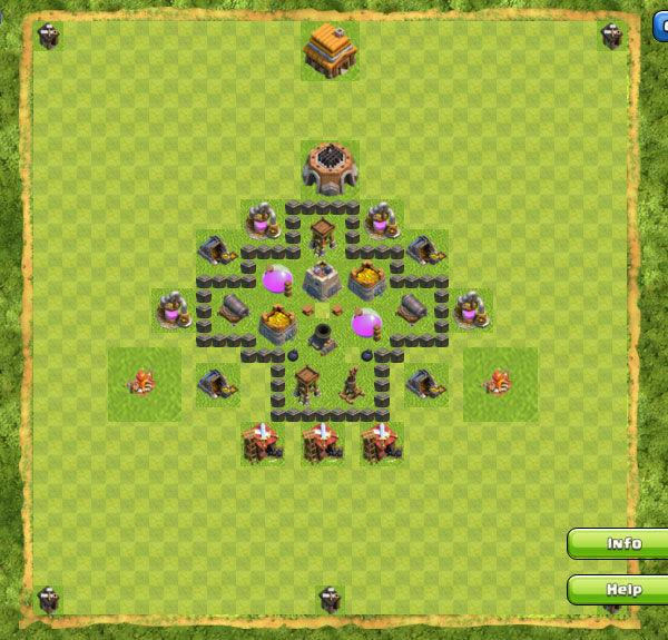 Base Farming Coc Th 4 21