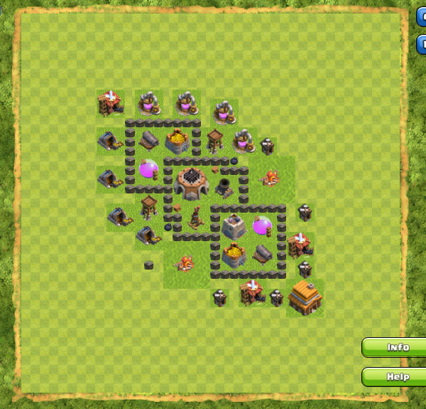 Base Farming Coc Th 4 4