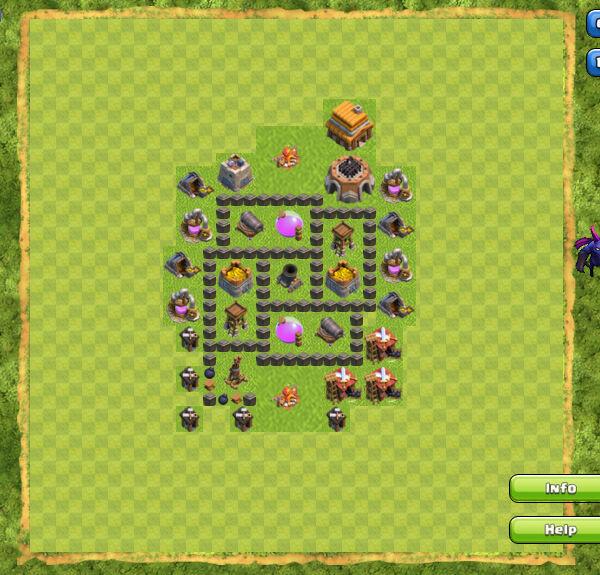 Base Farming Coc Th 4 5