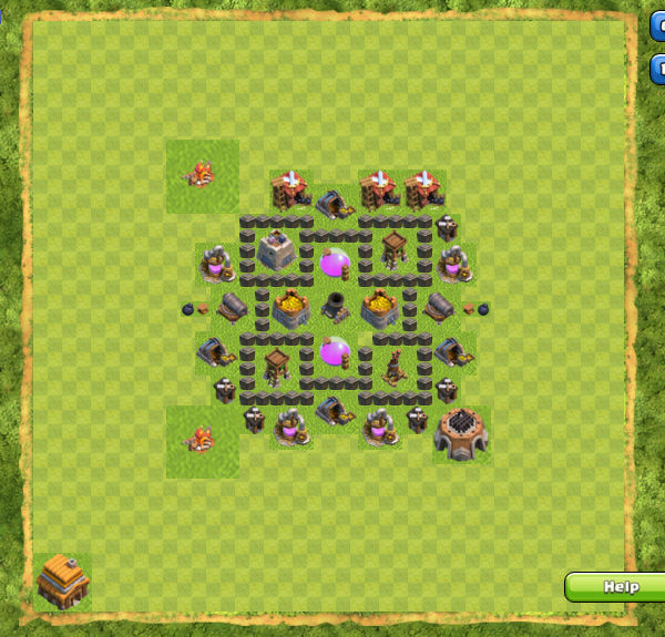 Base Farming Coc Th 4 6