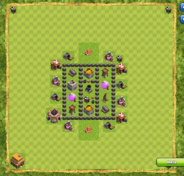 Base Farming Coc Th 4 7