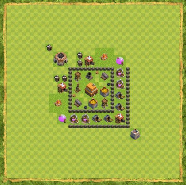 Base Defense Coc Th 4 Terbaru 1
