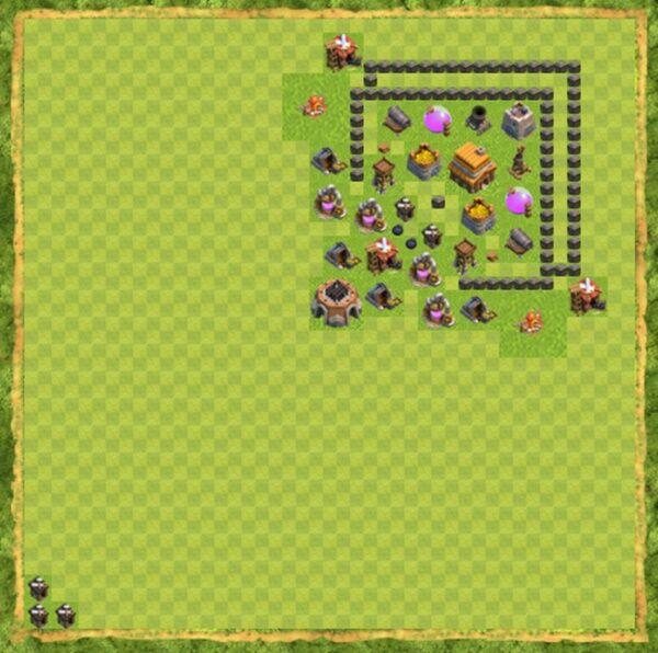 Base Defense Coc Th 4 Terbaru 10