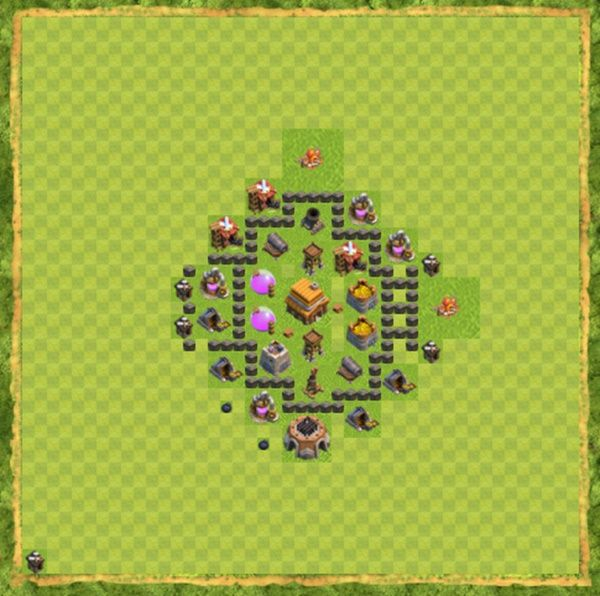 Base Defense Coc Th 4 Terbaru 3