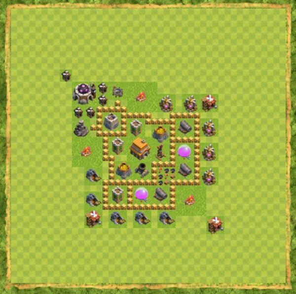 Base Defense Coc Th 5 Terbaru 2