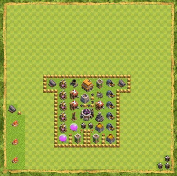 Base Defense Coc Th 5 Terbaru 4