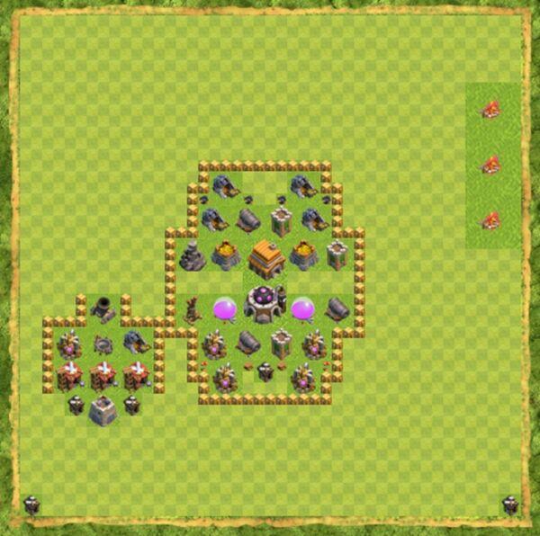Base Defense Coc Th 5 Terbaru 5