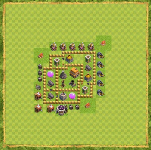 Base Defense Coc Th 5 Terbaru 8