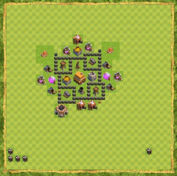 Base Farming Coc Th 4 Terbaru 1