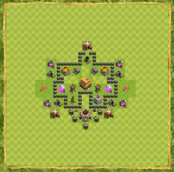 Base Farming Coc Th 4 Terbaru 10