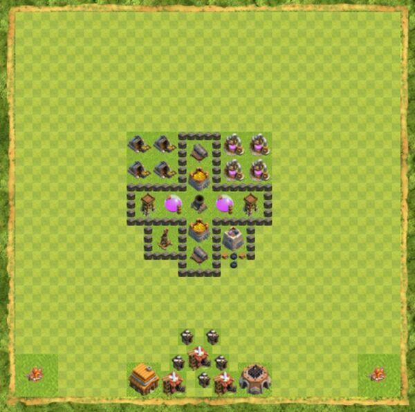 Base Farming Coc Th 4 Terbaru 2