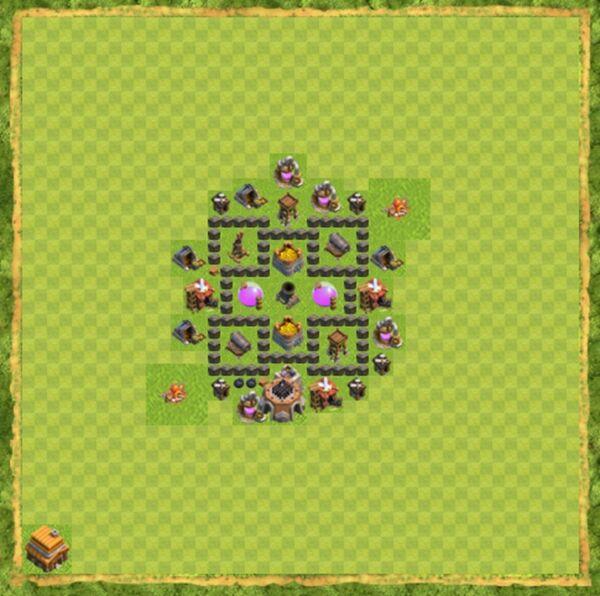 Base Farming Coc Th 4 Terbaru 3