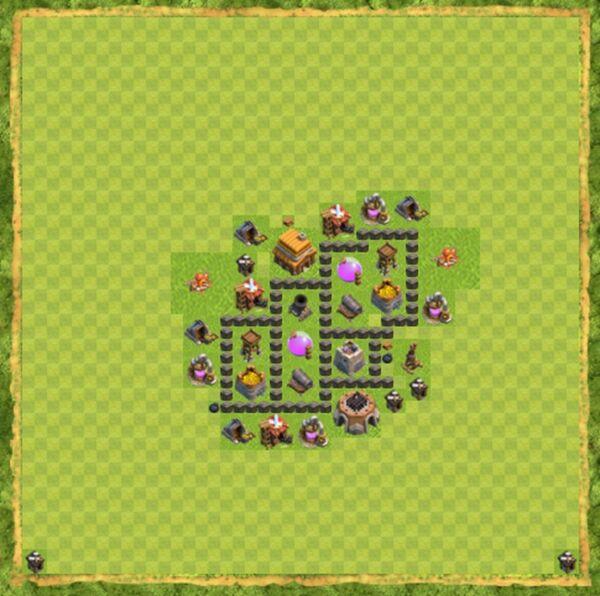 Base Farming Coc Th 4 Terbaru 5