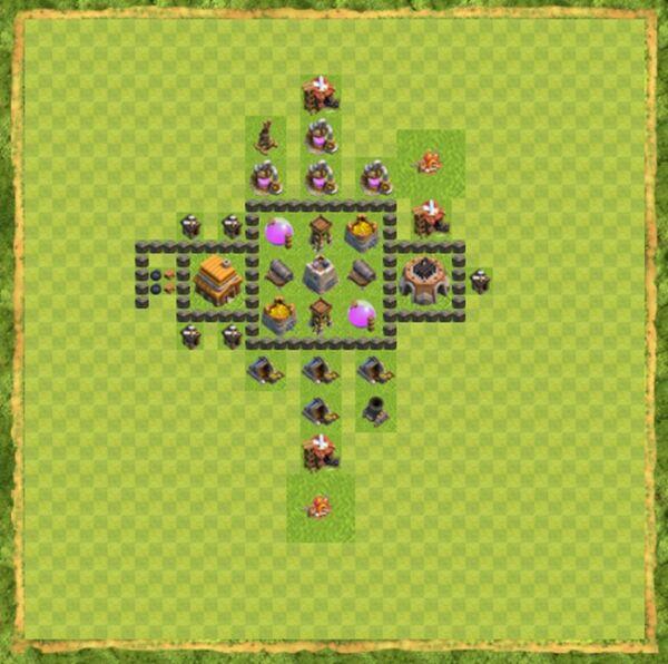 Base Farming Coc Th 4 Terbaru 7